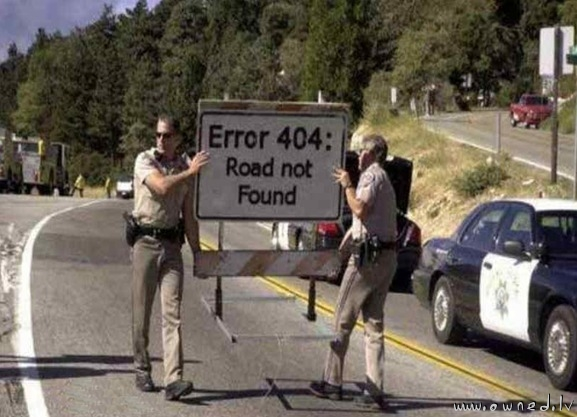 404 - Road not found