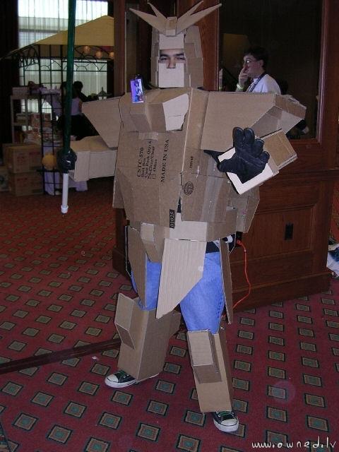 Halt ! Guardian robot demands password
