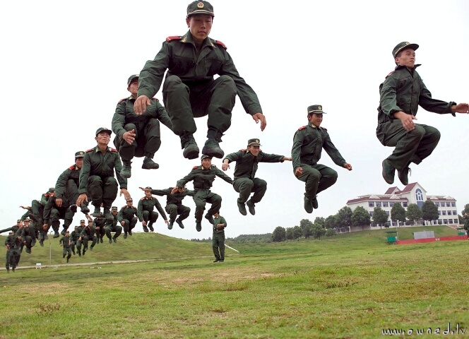 Flying army