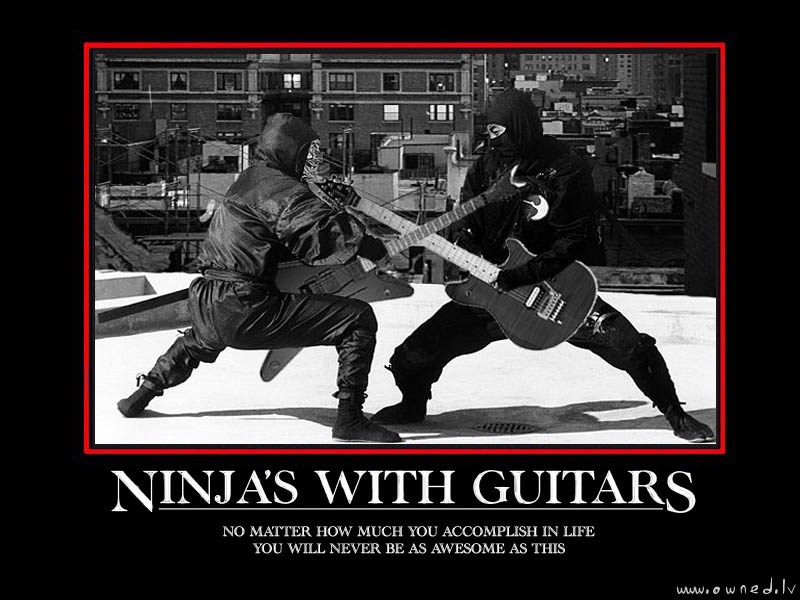 Ninja's with guitars