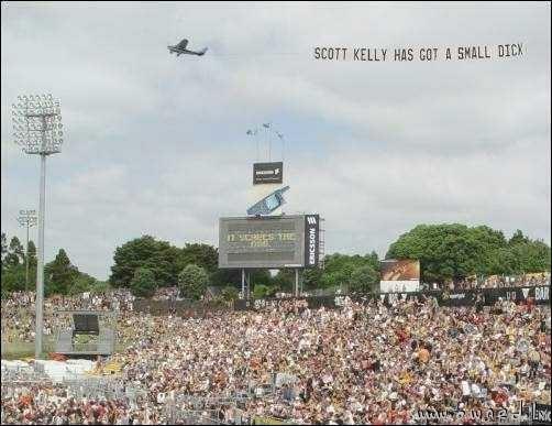 Scott Kelly has got a small ..