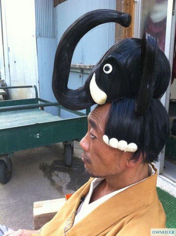 Elephant Hair Style