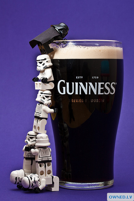 Guiness went over to the dark side... of beer!