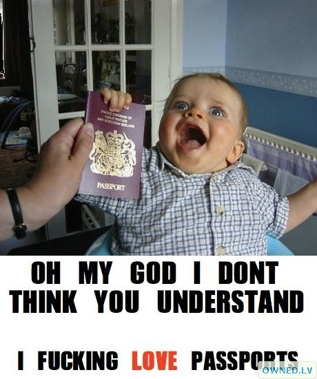 I Think He Really Likes Passports...