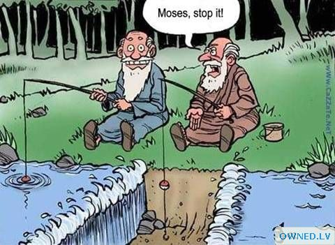 Never go fishing with a prophet...