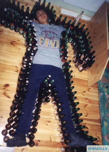 A man is never drunk if he can lay on the floor without holding on.