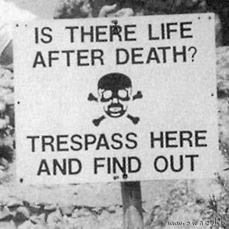 Trespass here and find out !