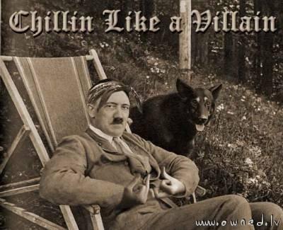 Hitler chillin'