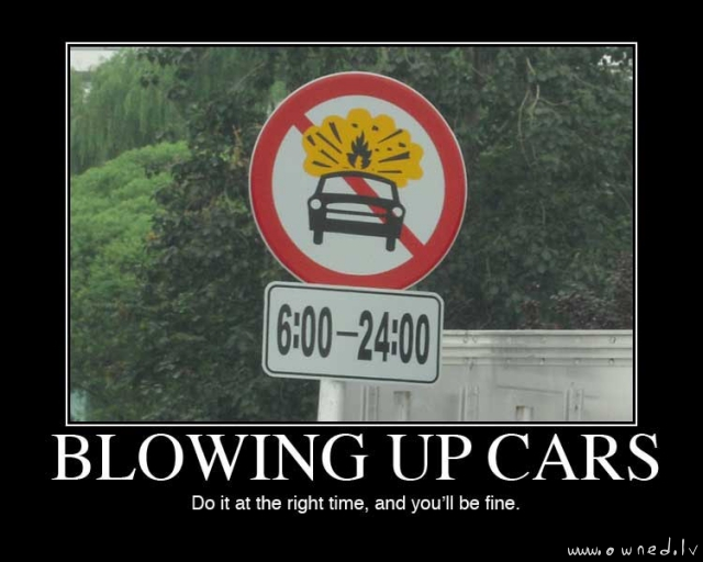 Blowing up cars