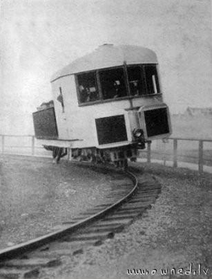 Vintage monorail tram
