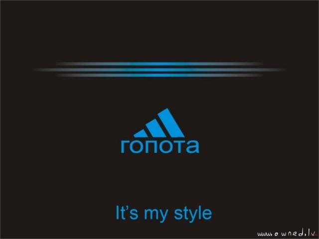 It is my style