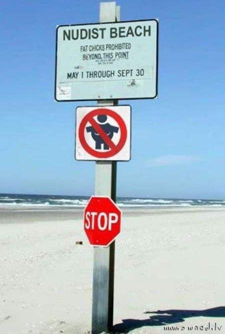 Nudist beach fat chicks prohibited