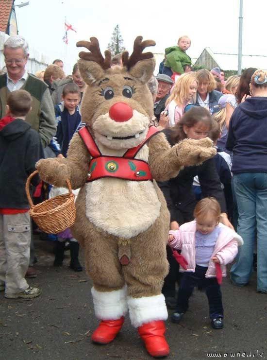 Funny reindeer costume