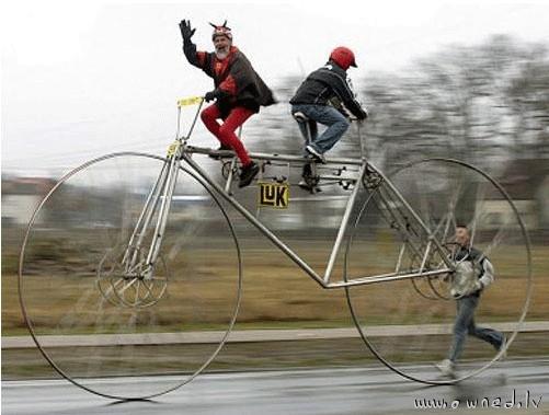 Huge bicycle