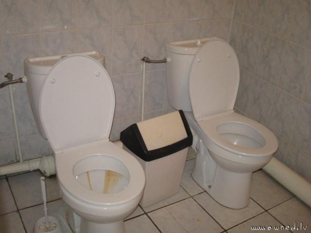 Strange toilet