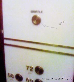 Elevator shuffle button