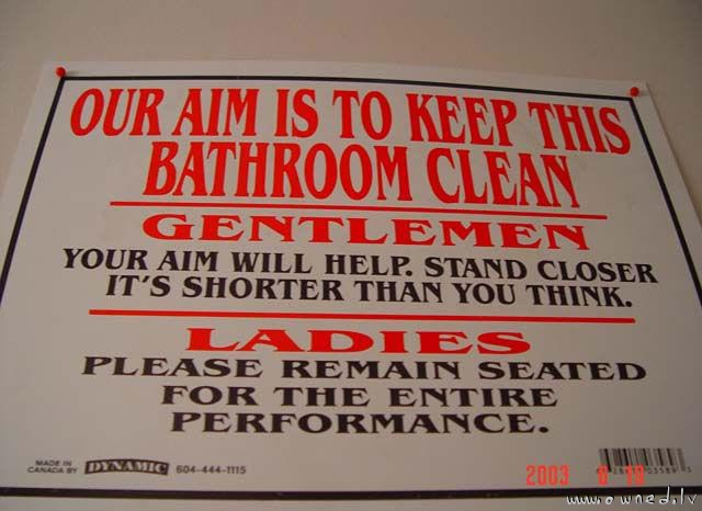 Keep this bathroom clean