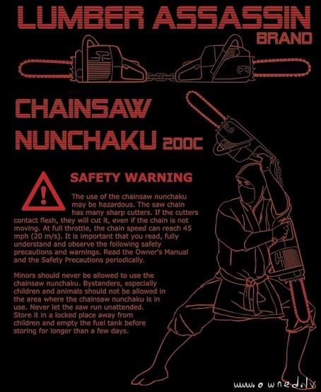 Chainsaw nunchaku