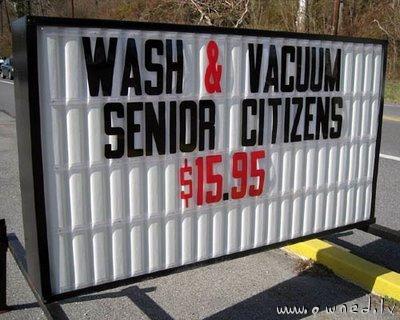 Wash and vacuum senior citizens