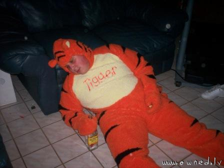 Tigger is tired