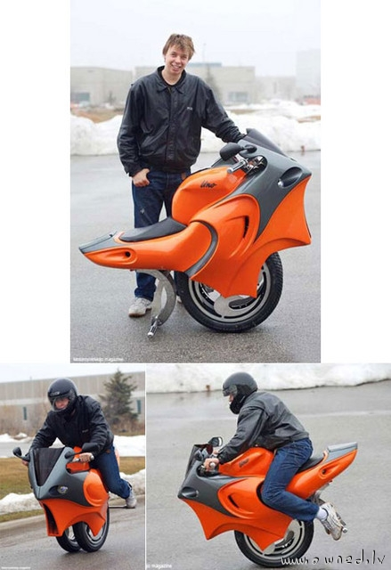 Motorized monorcycle