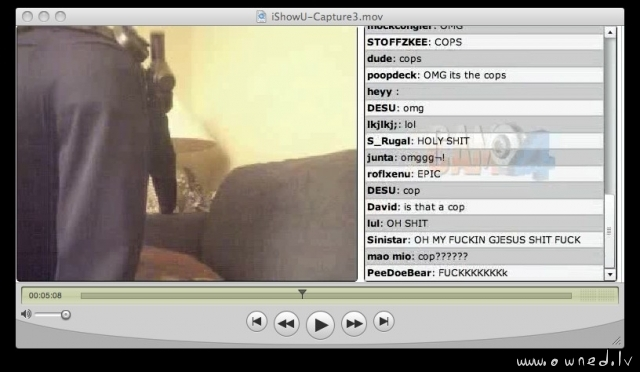 Videochat hoster got busted by cops