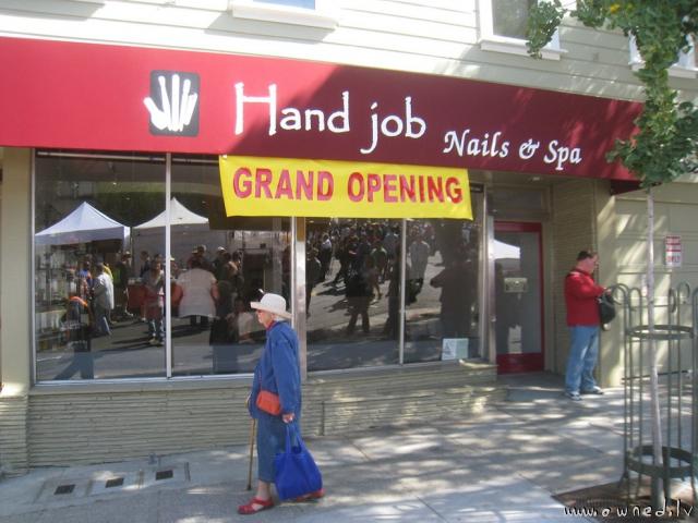 Hand job grand opening