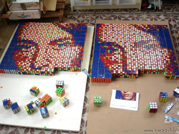 Rubics cube pixel art