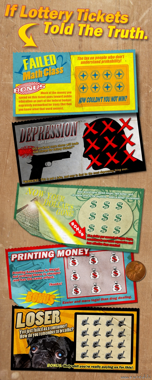 If lottery tickets told the truth