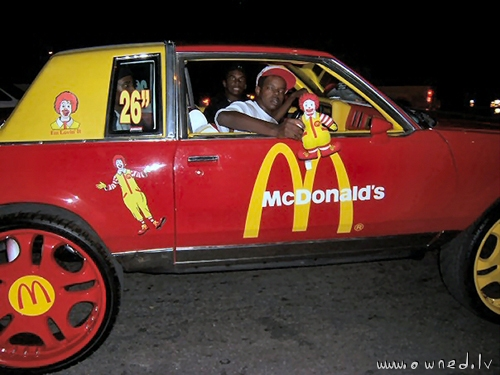 Pimp my ride McDonalds style