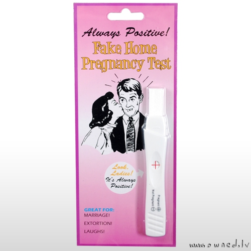 Fake home pregnancy test
