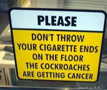 Cockroaches are getting cancer