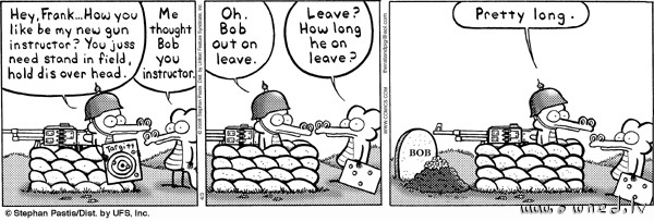 Bob out on leave