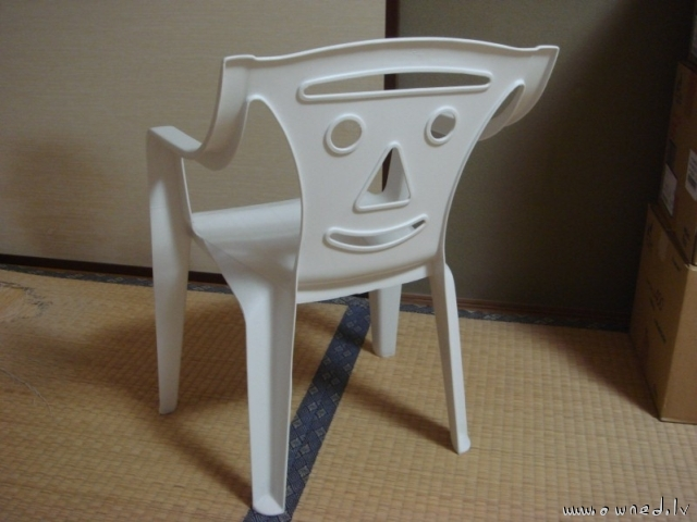 Funny plastic chair