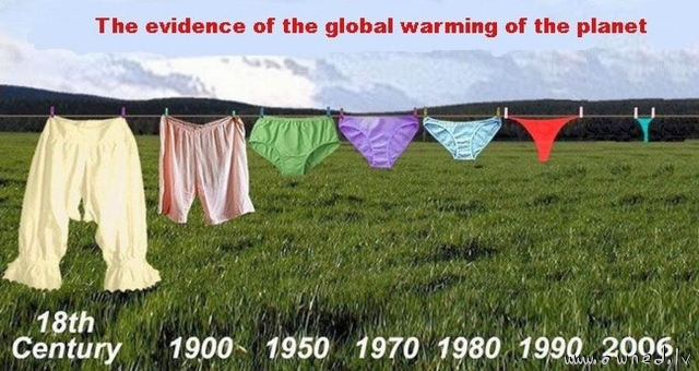 Evidence of the global warming of the planet