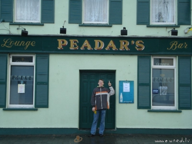 Peadars's bar - funny for latvians