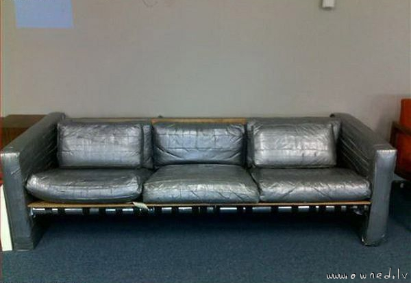 Duck tape couch