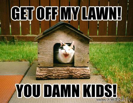 Get off my lawn !
