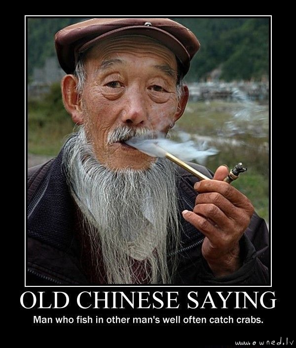 Old chinese saying
