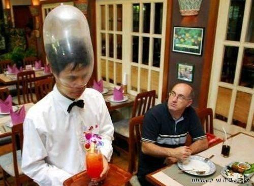 Strange waitress