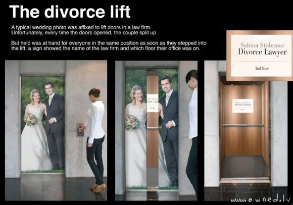 The divorce lift
