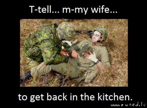 Tell my wife