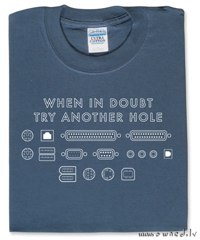 When in doubt try another hole