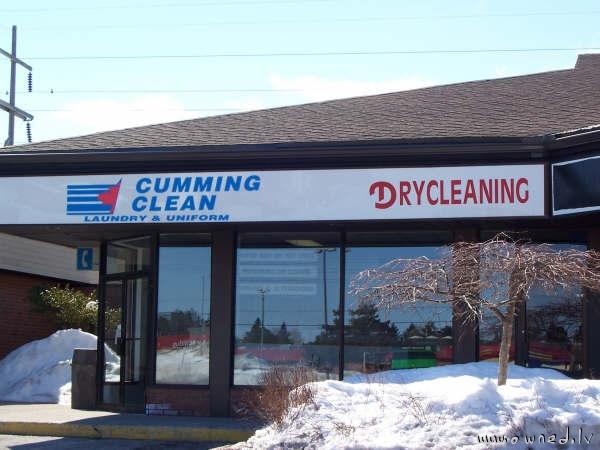 Cumming clean