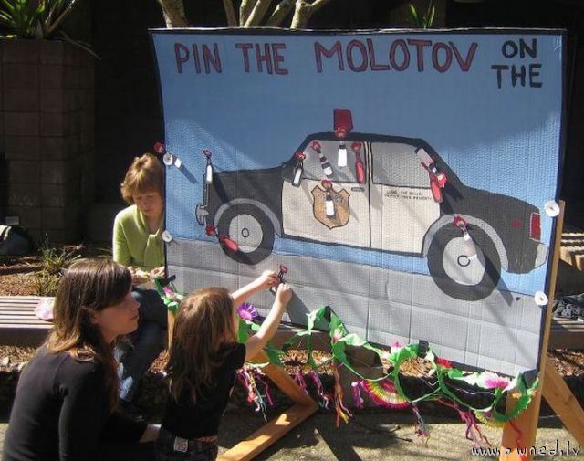 Pin the molotov