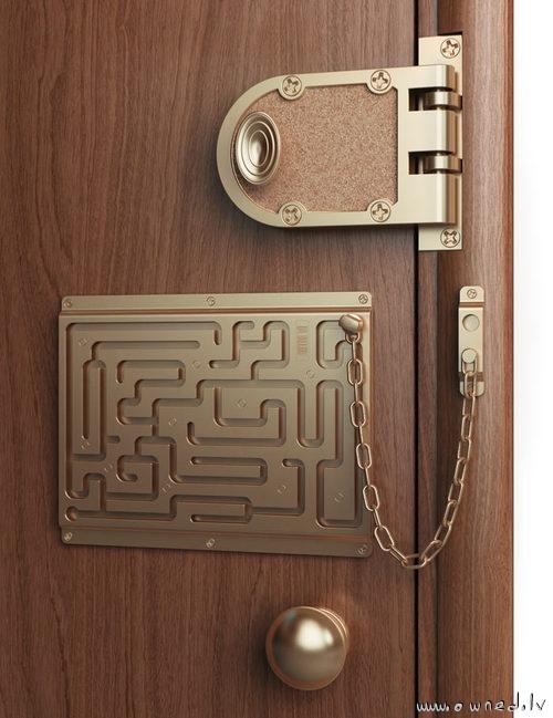 Ultimate door lock chain