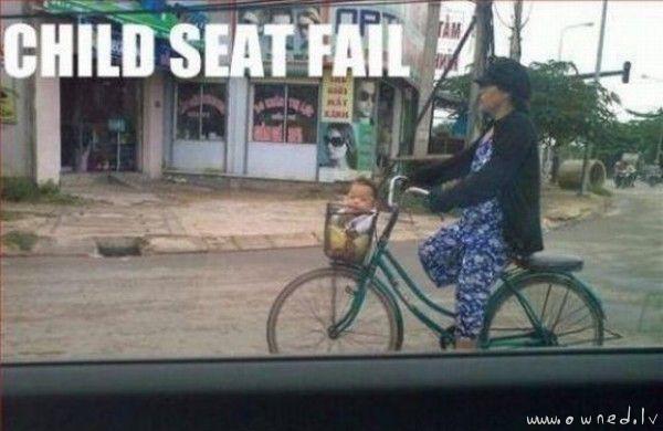 Child seat fail