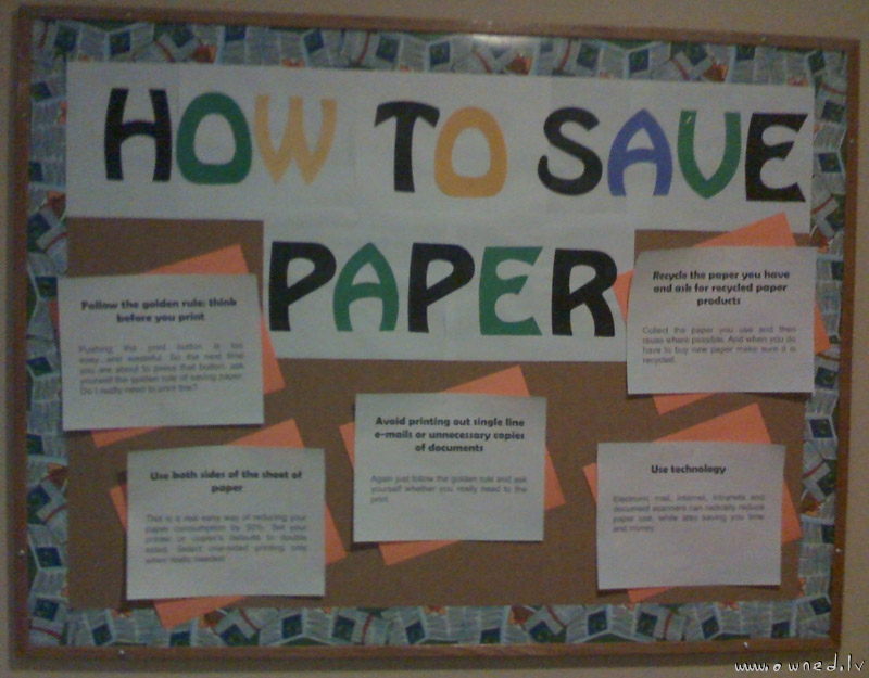 How to save paper fail