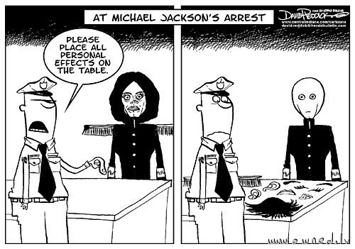 At Michael Jacksons arrest