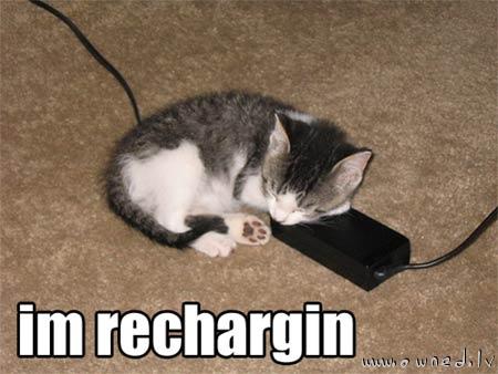 I'm recharging
